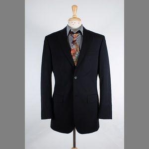 #ProntoUomo 38L Black Wool 2B Sport Coat 71-Q